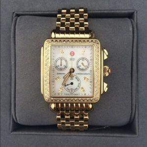 Michele Diamond Deco gold with gold bracelet
